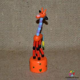 Girafa lemn cu buton