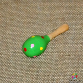 Maracas lemn mic verde
