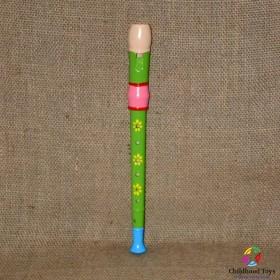 Fluier flaut colorat verde