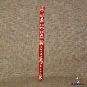 Fluier traditional romanesc rosu