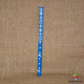 Fluier traditional romanesc albastru