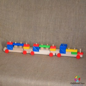 Trenulet lemn colorat 25 forme geometrice