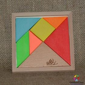 Puzzle lemn Tangram