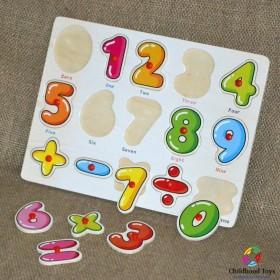 Puzzle incastru lemn cu cifre M8