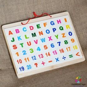 Tabla de scris din lemn cu cifre si litere M3