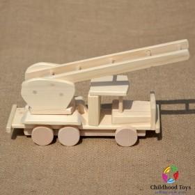Masina lemn natur de Pompieri cu scara