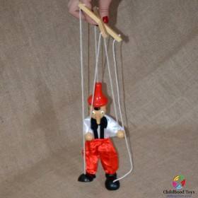Jucarie lemn marioneta Pinocchio