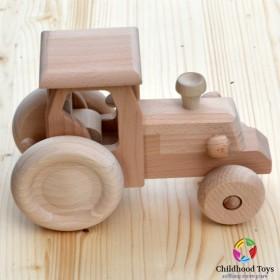 Tractor din lemn natur