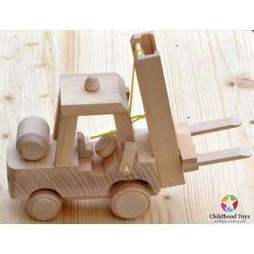 Jucarie lemn Stivuitor M1