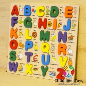 Puzzle lemn incastru alfabet