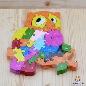 Puzzle lemn bufnita