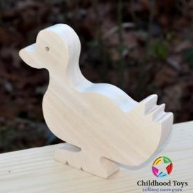 Figurina Rata lemn natur 14cm