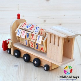 Jucarie lemn Locomotiva multifunctionala