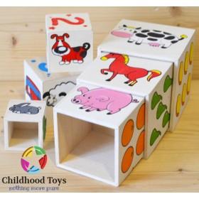 Turn lemn 6 cuburi