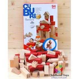 Cuburi din lemn 94 piese