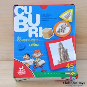 Cuburi din lemn 45 piese