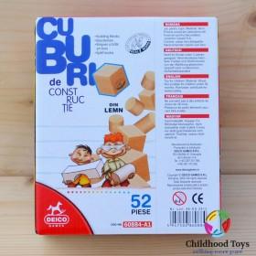 Cuburi din lemn 52 piese