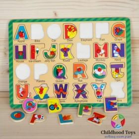 Puzzle incastru lemn cu litere M6
