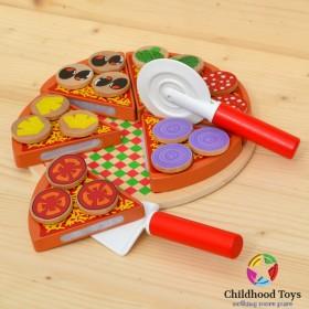 Set lemn Pizza de feliat