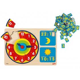Ceas puzzle lemn GOKI 2