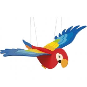 Decoratiune lemn Papagal Goki 2