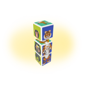 Set magnetic Geomag Magicube Animale 2
