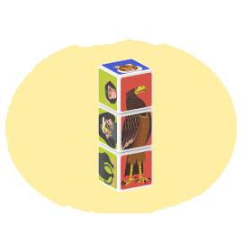 Set magnetic Geomag Magicube Animale 4